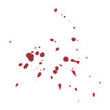 Abstract Blood splatter on white background Royalty Free Stock Images
