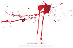 Abstract Blood splatter  on White background, vector des Stock Images