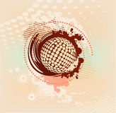 Abstract blot background with dots Royalty Free Stock Image