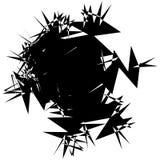 Abstract blot, splatter like random shape. Black and white geome Royalty Free Stock Photos