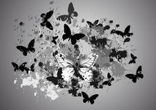 Abstract  blots. With butterflies Royalty Free Stock Image