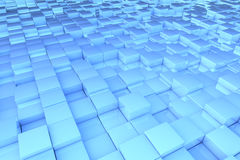 Abstract blue 3D cubes. Abstract background pattern made of blue 3D cubes Royalty Free Stock Photography