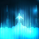 Abstract Blue aircraft technology Stock Images