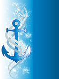 Abstract Blue Anchor Background Stock Image