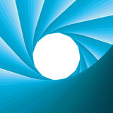 Abstract blue aperture. Vector illustration Stock Images