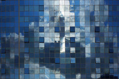 Abstract blue architectural background. Royalty Free Stock Photography
