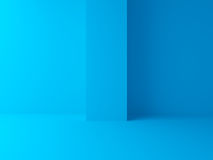Abstract blue architecture background. Empty 3d interior Stock Photos