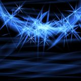 Abstract blue ardent background. Royalty Free Stock Image