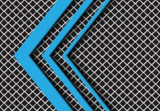 Abstract blue arrow direction on grey square mesh design modern futuristic background vector. Illustration vector illustration