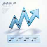 Abstract blue arrow flow chart infographics Royalty Free Stock Photography