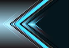 Abstract blue arrow light power direction on grey design modern futuristic background vector stock illustration