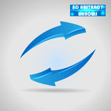 Abstract blue arrows 3d vector Royalty Free Stock Photos