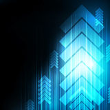 Abstract Blue Arrows technology communicate background,  i Royalty Free Stock Images