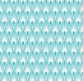 Abstract Blue Art Deco Seamless Background. Geometric Fish Scale Pattern. Classic Art Deco Seamless Pattern. Geometric Stylish Texture. Abstract Retro Vector Royalty Free Stock Photo