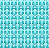 Abstract Blue Art Deco Seamless Background. Geometric Fish Scale Pattern. Classic Art Deco Seamless Pattern. Geometric Stylish Texture. Abstract Retro Vector Royalty Free Stock Photography