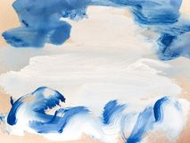 Free Abstract Blue Art Painting Background. Abstract Waves Stock Image - 144803641