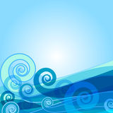 Abstract blue background. Abstract design decorative blue background with wave (vector vector illustration