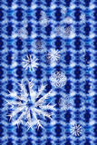 Abstract blue background. With snowflakes Royalty Free Stock Photography