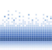 Abstract blue background. Abstract blue square pixel mosaic background Royalty Free Stock Photos