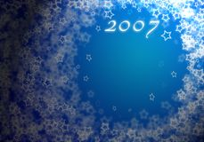 Abstract blue background. For new 2007 year royalty free illustration