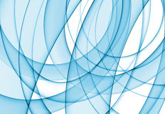 Abstract blue background. Of curving blue shapes on white Stock Image