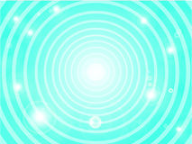 Abstract blue background. With circles Stock Illustration