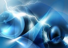 Abstract blue background. Abstract blue and fairy background with lightning Royalty Free Stock Image