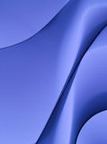 Abstract blue background. An abstract composition based on wavy lines and soft shadows Royalty Free Stock Image