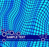 Abstract blue background. Abstract  background with wavy mosaic effect and  space for your text Royalty Free Stock Photos
