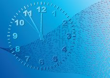 Abstract blue background. Time. Vector illustration Royalty Free Stock Photo