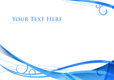 Abstract blue background. With place for your text royalty free illustration
