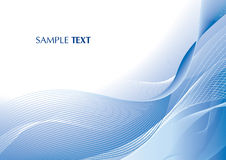 Abstract blue background. With thin curves Royalty Free Stock Photo