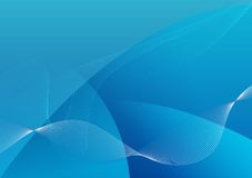 Abstract Blue Background. An illustrated blue background with an abstract design of waves Stock Photos