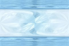 Abstract blue background. Fresh colored background, like water with a strip Royalty Free Stock Images