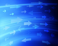 Abstract Blue Background Arrows stock images