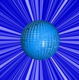 Abstract  blue background and ball Stock Image