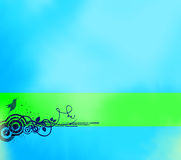 Abstract blue background with banner royalty free stock photography