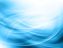 Abstract blue background. Beautiful lines and blur Stock Images
