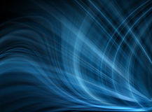 Abstract blue background. Beautiful lines and blur Stock Image