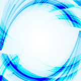 Abstract  blue background with bent lines. Stock Photo