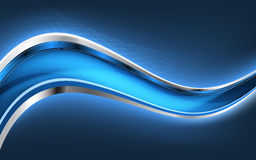 Abstract blue background with blue lines. Vector Royalty Free Stock Photos