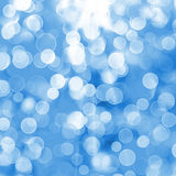 Abstract blue background with blur bokeh Royalty Free Stock Photography