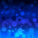 Abstract blue background with bokeh. Square Royalty Free Stock Images
