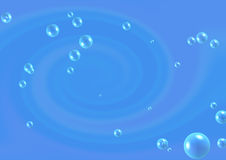 Abstract blue background with bubbles Royalty Free Stock Photography