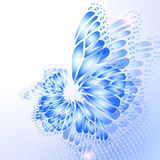 Abstract blue background with butterfly Royalty Free Stock Photography