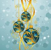 Abstract blue background with Christmas balls. Illustration abstract blue background with Christmas balls - vector Royalty Free Stock Photos