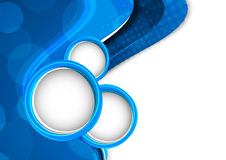 Abstract blue background with circles Stock Image