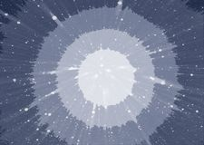 Abstract blue background with circles in the middle. Cosmic background stretching into the distance Stock Images