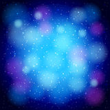 Abstract blue background. With circles, stars and shining Royalty Free Stock Photography