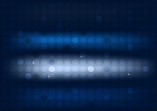 Abstract blue background with circles and wide blurry light stripes Stock Photos